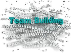 3d image Team Building word cloud concept Stock Illustration