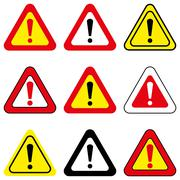 Set of Vector Exclamation Signs Stock Illustration