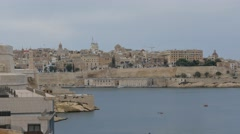 Central part of Valletta - capital of Malta - time lapse Stock Footage