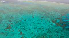 The Great Barrier Reef from the air, Australia - stock footage