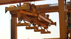 Industrial Crane With Magnets Stock Footage