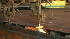 Cutting Technology Of Sheet Metal Steel Stock Footage