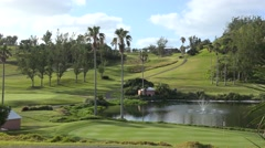 Golf course at the Turtle Hill Golf Club (Fairmont Southampton resort). Bermuda Stock Footage