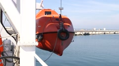 Rescue Boat Or Life Boat At Test Stock Footage