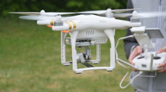 Drone flying in slow motion - stock footage