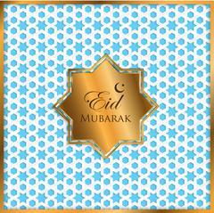 gold label ramadan kareem greeting card - stock illustration