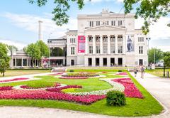 Latvian national opera and ballet theater. - stock photo