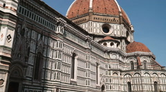 The Cathedral of Saint Mary of the Flower (Duomo) in Florence, Italy Stock Footage