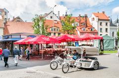 The historical centre of Riga, Latvia Stock Photos