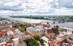 Cityscape Riga, Latvia. - stock photo
