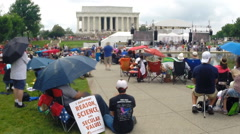 Time-lapse of Atheists attend the Reason Rally in Washington, D.C.  Stock Footage