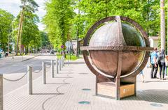 Bronze Globe of Jurmala, Latvia Stock Photos