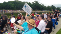 Humanists and Atheists attend the Reason Rally in Washington, D.C.  Stock Footage