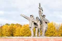 Victory Memorial to Soviet Army in world war II. - stock photo