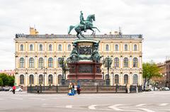 Monument to Nicholas I Stock Photos