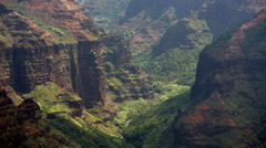 Close up of the Waimea Canyon in Kauai, Hawaii Stock Footage