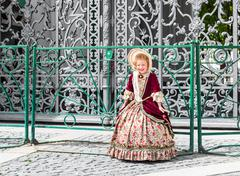 Girl in an ancient dress Stock Photos