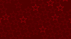 red abstract background, flashing stars, loop - stock footage