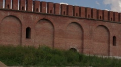 Walls of the Smolensk Kremlin Stock Footage