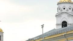 Panorama Orthodox cupolas Stock Footage
