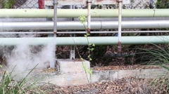 Smoke and hot steam drainage in Bangpu Industrial Estate, Thailand. - stock footage