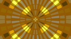 Gold abstract background, flashing light, radial, loop Stock Footage