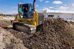 Heavy caterpillar construction machine Stock Photos