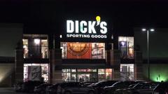 4K Dicks sports retailer storefront Stock Footage