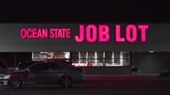 4K Ocean State Job Lot discount retailer storefront Stock Footage