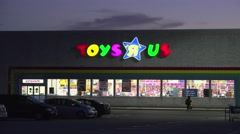 4K Toys R Us retailer storefront - stock footage