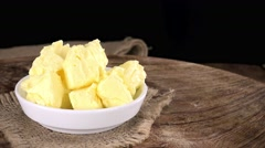 Portion of Butter (not loopable; 4K) Stock Footage