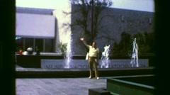 1978: Museo Nacional de Antropologia outdoor building structure. MEXICO CITY, Stock Footage