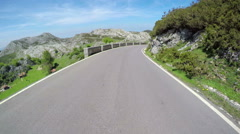 Driving POV sunny day mountains time lapse summer Picos de Europa Spain - stock footage