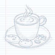 Cup of aromatic coffee Stock Illustration