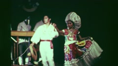 1978: Formal latin stage performance actors dancing extravagant dress. ACAPULCO, Stock Footage