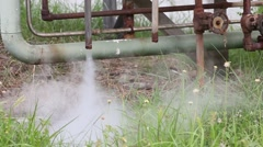 Smoke and hot steam drainage in Bangpu Industrial Estate, Thailand. Stock Footage