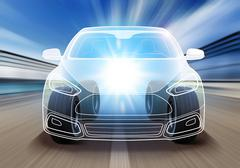Design of advanced car Stock Illustration