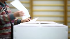 Voting hand detail - stock footage