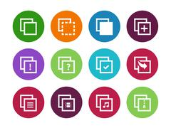 Copy Paste circle icons for Apps, Web Pages Stock Illustration