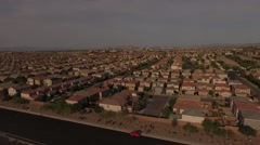 4K aerial of subdivision and neighborhood on the outskirts of Las Vegas, Nevada, - stock footage