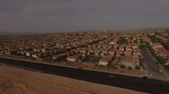 4K aerial of subdivision and neighborhood on the outskirts of Las Vegas, Nevada, Stock Footage