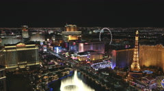 4K aerial timelapse of the strip and casinos in Las Vegas, Nevada, USA Stock Footage