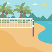 Background of beach volleyball court at seashore Stock Illustration