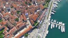 Aerial view of Kotor Stock Footage