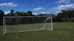 Soccer Goal on Soccer Field - stock footage