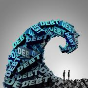 Debt Pressure - stock illustration