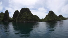 Rock Islands in Wayag, Raja Ampat Stock Footage