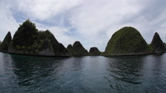 Limestone Islands in Wayag, Raja Ampat Stock Footage