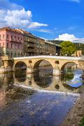Latin Bridge in Sarajevo - Bosnia and Herzegovina Stock Photos