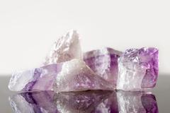 Crystal healing Stone amethyst, uncut Stock Photos